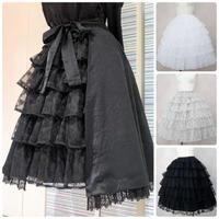 【Victorian maiden】  フリルミルフィーユアンダースカート/レーシーブラック・レーシーオフホワイト ・レーシーシナモン