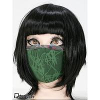 【Qutie Frash】ファッションマスク〜ブークレー×和柄パイピング(7756)