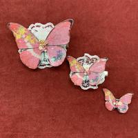 【ゴシックホリック】 蝶々クリップ/すみれ/小/300