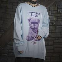 【Amilige】Psychopass BIG トレーナー【PURPLE BEAR】(82011141008)