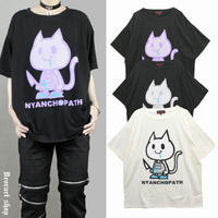 【Deorart】ヴィンテージ仕上げ オーバーサイズTシャツ (にゃんこぱす)【DRT2579】