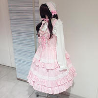 【MAXICIMAM】リリックローズラシーヌジャンバースカート/8W1017
