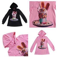 【Amilige】Colorful Bunny Parfait パーカーワンピース(82012421001)