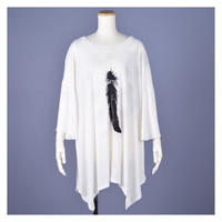 【h.NAOTO】Angel Wings Super Size Tunic /CNF27-T189 WH/XL