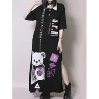 【SEXPOTReVeNGe】CANDY BEAR SLIT LONG シャツ カットソー【SA68836】