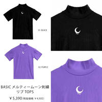 【LISTEN FLAVOR】BASICメルティムーン刺繍リブTOPS(2113519)