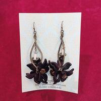 【Phantom Jewelry】黒いお花と蝋燭のピアス/イヤリング