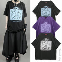 【Deorart】ヴィンテージ仕上げ オーバーサイズTシャツ(キュービウラメン)【DRT2581】