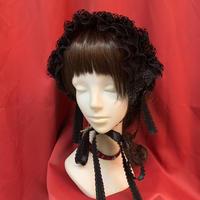 【corgi-corgi】レースヘッドドレス/ブラック薔薇