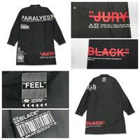 【JURY BLACK 】ロゴプリントステンカラーシャツ(12023261004)