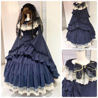 【Triple*fortune】リリウムドレス/紺