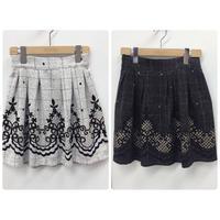 【PARADOX】キュロットスカート/グレー・ブラック