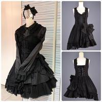 【h.NAOTO】Black Bow Dress/BFD21-O016 BK/M