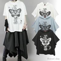 【Deorart】フーディ プリント ポンチョTシャツ (DRT2560)