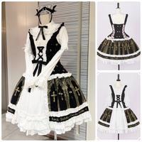 【Estryllia Enhillia】「ミラ教典」DYE-DRESS/ブラック/M