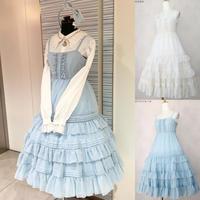 【Victorian maiden】シャーリングシフォンロングアンダードレス