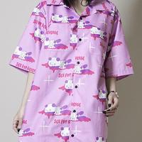 【SEXPOTReVeNGe】血まみれパンダ フルカラー SUMMER BIGシャツ【SB01096】