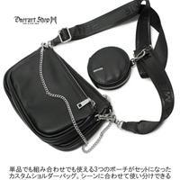 【Deorart】PU コインケース付き 3WAYショルダー(BY3052)