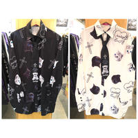 【Amilige】ネクタイ付き総柄 Shirt(82123263014)