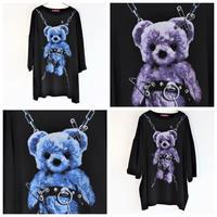 【Amilige】Tied Bear スーパーBIG Tシャツ(82102263010)