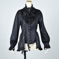 【h.NAOTO】 Black Rose Dragon Scale Blouse/CNF30-H117 BK/M