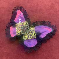 【ゴシックホリック】大羽のモルフォヘアコーム/177赤紫