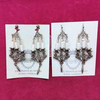 【Phantom Jewelry】アンティークな燭台ピアス/イヤリング