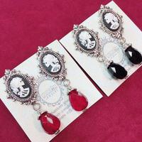 【Phantom Jewelry】骸骨夫人カメオのレトロなイヤリング