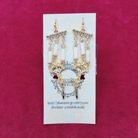 【Phantom Jewelry】ゴールドの燭台ピアス