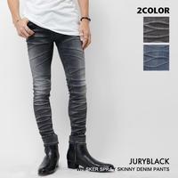【JURY BLACK 】立体加工スプレーヒゲスキニー(11960191001)