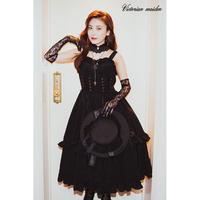 【Victorian maiden】  BURLESQUE DOLL ビスチェドレス/ブラック・ピンク・ピーコック
