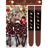 【 Royal Princess Alice】RuRu Choco Appleオーバーニーソックス/ブラック