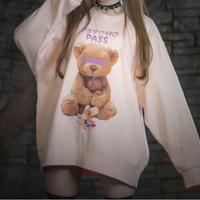 【Amilige】Psychopass BIG トレーナー【BROWN  BEAR】(82011141007)