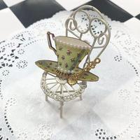 【まよなかのこいびと展】Masquerade/ティーカップブローチ/teacup-flower