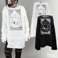 【Deorart】プリント・ガーゼシャツ 魔法陣・六芒星(DRT-2408)