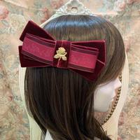 【まよなかのこいびと展】Masquerade/薔薇レース×ベロアバレッタ/rose-lace-ribbon-re