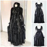 【h.NAOTO】Dragon Scale Bird Cage Long Dress/CNF30-O115 BK/M