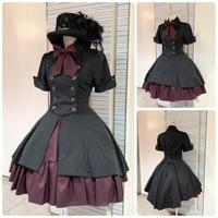 【ATELIER BOZ】 メイファス スカート付 ジャケットワンピース/6292