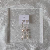 handmade perl chain pierce -648-