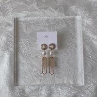 handmade shell earring -649-