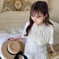 vintage blouse -FA424-