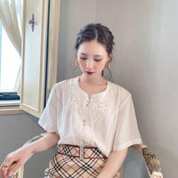 vintage blouse  -FA462-