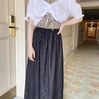 vintage tyrolean blouse -FA452-