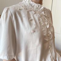 vintage pearl blouse -FA382-