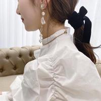 handmade shell perl earring  -646-