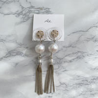 handmade  clearparl_earring  -621-