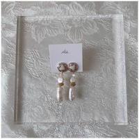 handmade shell earring -650-