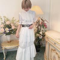 vintage frill blouse -FA381-
