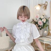 vintage frill blouse -FA383-