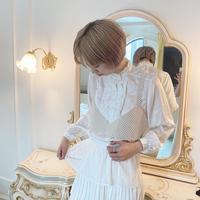 vintage frill  blouse -FA374-